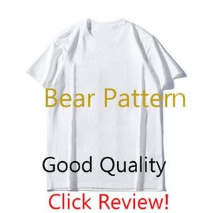 MS Mens Designer T Shirt Luxury Bear Pattern Tees Fashion Mens Printing Short Sleeves 2020 Summer Trendy Women T-shirt 2colors Wholesale