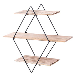 Wholesale floating wood shelf resale online - 2019 Wood Wall Floating Shelves Decorative Wall Shelf Tier Wall fashion