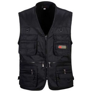 Wholesale Men s Fishing Vest with Multi Pocket Zip for Photography Hunting Travel Outdoor Sport C18122401