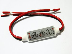 Wholesale new DC 12V 3 Keys Mini Dimmer Controller For Single Color 5050 3528 Led Light Strip