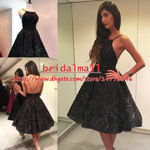 Knee Length Sequined Lace Short Prom Dresses 2019 Sexy Beaded Appliques Cocktail Party Gowns Sexy Backless Homecoming Dress Graduation Club on Sale