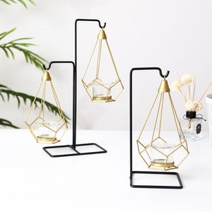 Nordic Luxury Light Candle Holder Metal Table Romantic Wedding Candlelight Dinner Props Crative European Decorations Ornaments Candle Holder