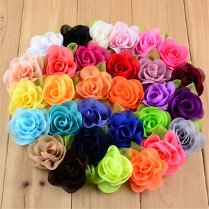 Hot Sale New girls Beautiful Flower With Green Leaf Kids Boutique Headwear DIY Accessories Clothes Parts FREE shipping