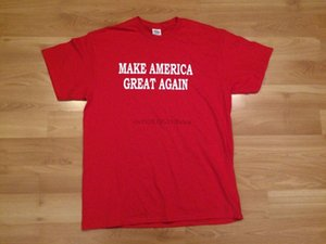 Make America Great Again T Shirt Mens Large Red Donald Trump Costume Redneck