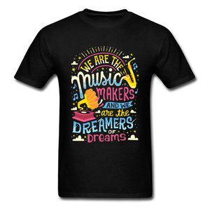 Music Makers Dreamers Tee Shirts Men Tshirt Jazz Lover Clothing Letter Tops Cotton Tees Hip Hop Band T-shirt Black