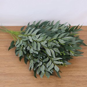 Wholesale silk leaf foliage for sale - Group buy 1Pc Artificial Willow Leaves Long Branch Silk Plants Flower Arrangement Green Leaves for for Home Garden Decoration Faux Foliage