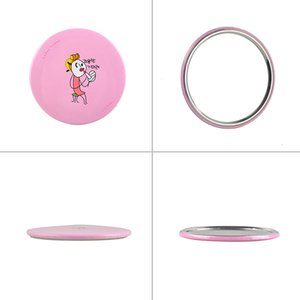 Wholesale Make Up Mirrors Wedding Gifts Cute mini Hand Mirror Aluminum Tin plate Cosmetic Compact Makeup Mirror Cartoon Romantic Mirror