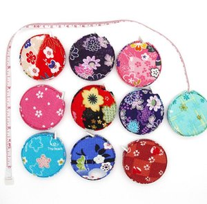 Wholesale 1 M Japanese Syle Cherry Flower Design Sewing Measurement Retractable Tailor Ruler Tape Measures Gift SN3383