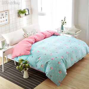 Wholesale Hot Sale Piece Blue Small Flower Printing Duvet Cover Cotton Quilt Cover for Bedding Set Twin Full Queen Size