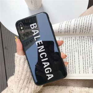 Wholesale Phone Case For iPhone X XS XR XS Max S Plus Luxury fashion exquisite glass mobile phone case