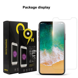 Wholesale Screen protector Tempered glass for iPhone xs max x xr xr plus redmi note huawei P30 Pro one plus pro with paper package