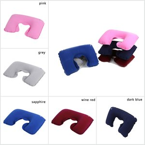 Wholesale neck pillow Universal Car Soft Inflatable Travel Pillow New Portable Neck Rest U Shaped Neck Rest Air Cushion EEA160