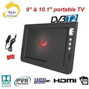 LEADSTAR 9 inch 10 inch mini LED TV digital player AC3 DVB-T T2 Analog ATSC Portable TV HDMI USB TF TV programs Car charger gift