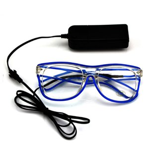 Wholesale Flashing Wire New Fashion Led Glasses Luminous Lighting Classic Gift Festival Bright Light Party Decorative