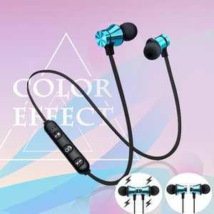 Wholesale XT11 Magnetic Bluetooth in Ear Headset Hands Free Noise Reduction Sports Running Wired Earphone Headphone with Mic Headset for IPHONE