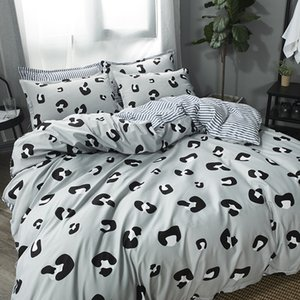 Wholesale Leopard Bedding Set printing Bed line bed Sheets pillowcases duvet cover