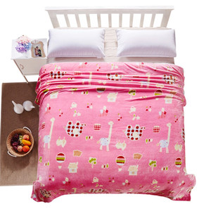 Flannel Polar-fleece Blanket of High Quality Polyester Fiber Sheet Soft and Warm Ensure good sleep in night. on Sale