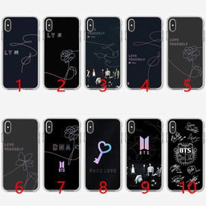 Wholesale BTS Bangtan Boys Love Yourself Soft Silicone TPU Phone Case for iPhone S SE S Plus X XR XS Max Cover