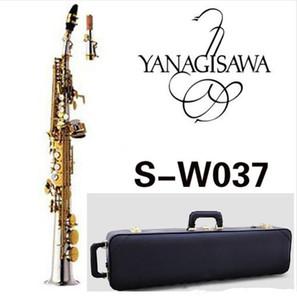 Japan YANAGISAWA SS-W037 B flat Soprano Saxophone Musical Instruments Sax Brass Nickel Silver plated With Case Professional