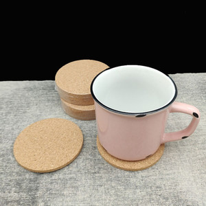 Wholesale Classic Round Plain Cork Coasters Placemat Drink Wine Mats Cork Mats Drink Wine Mat Tea Cup Pad Creative Party Gift Customizable DBC DH1124