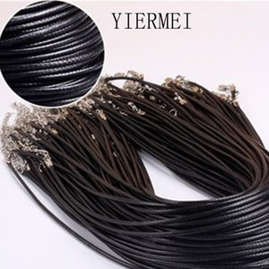 Wholesale Twisted Braided Rope mm Black PU Leather Cord Chain Necklace Silver Clasp String Ropes Men Women gargantilha High Quality