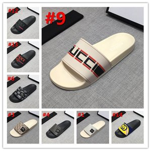 Wholesale 2019 Top Men Women Sandals Designer Shoes snake print Luxury Slide Summer Fashion Wide Flat Sandals gucci Slipper With Box Dust Bag