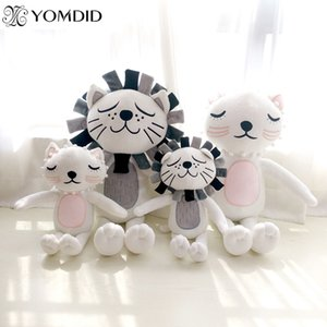 Wholesale Stuffed Toy Cartoon Animals Doll Plush Toys Lion Cat Plush Funny Toy For Children s Bedroom Cute kids Gifts Home Decorations