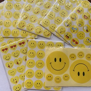 Yellow Smile Adhesive Stickers Kindergarten Reward Praise Sticker for Children Paper Products Crying Face Expression Sticker Preschool Tool