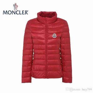 Wholesale Christmas Winter Standing collar Short paragraph Thin light Womn s Down jacket Female Korean Slim fit Thin section light coat