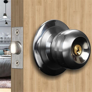 Wholesale knob door locks resale online - Home Door Locks Round Ball Privacy Door Knob Set Bathroom Handle Lock With Key For Home Door Hardware Accessories