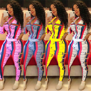 Women 2 piece set panelled fall winter clothing fitness gym Jacket pants tracksuit Cardigan leggings outfits outerwear hoodies bodysuit 1506