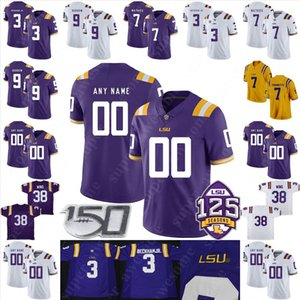 futebol lsu venda por atacado-CUSTOM LSU Tigers Football Jersey Jamal Adams Kevin Mawae Johnny Robinson Kwon Alexander LaRon Landry Dwayne Bowe Jeremy Hill Deion Jones