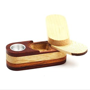 Newest Folding Smoking Wooden Pipe Foldable Metal Monkey Hand Tobacco Cigarette Pipe With Storage Space Bowl Tools Accessories