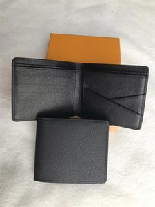 Wholesale New Leather Retro Short Bifold Wallet Men Women Cowhide Coin Purse Card Holder Money Purse With Box