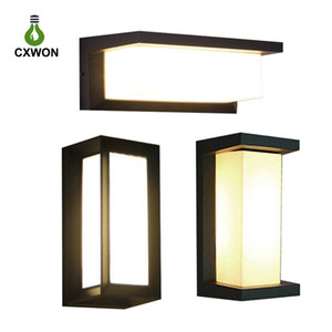 Modern Outdoor LED Wall Lamps Bulb IP54 Waterproof exterior Porch lights House Outside Garden Wall Light Fixture Black and Grey Colour
