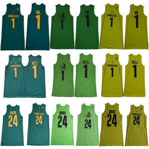 Wholesale NCAA College Oregon Ducks Basketball Bol Bol J Bell Dillon Brooks Jersey Men Team Color Green Yellow University For Sport Fans