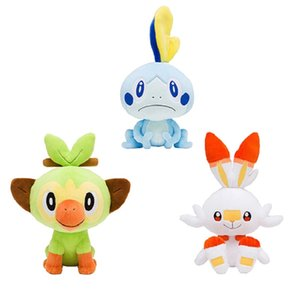 Sword shield Gosanke Sobble Grookey Scorbunny plush kawaii monkey rabbit Cartoon game toys soft Claw machine doll for kids toys 2535