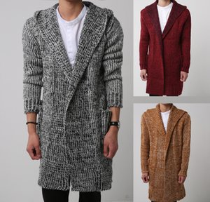 Wholesale Cool2019 Wear Men's The Summer Cardigan Even Hat Long Fund Sweater Knitting Unlined Upper Garment