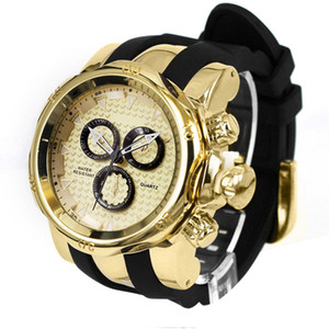 SHHORS Brand Sport Watch Big Dial Army Watch Rubber Band Luxury Golden Watches Men Gold Male Clock Relogio Masculino