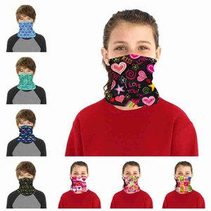 Children Face Mask Kids Protective Mask Outdoor Cycling Magic Scarf Bandana Headband Neck Gaiter Balaclava Turban ZZA2377 300Pcs