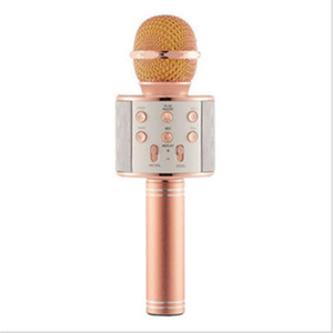 Wholesale bluetooth microphones for sale - Group buy WS858 wireless USBs microphones professionals condensers karaoke mic bluetooth stand radio mikrofon studio recording studio WS858