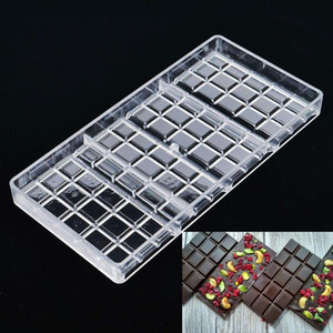 Polycarbonate Chocolate Bar Mold Fondant Shapes Candy Jelly Mould Plastic Baking Pastry Mould Kitchen Tool Bakeware