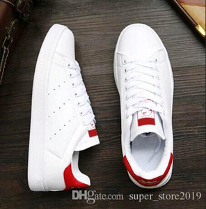 Wholesale stan smiths resale online - 2020 HIGH quality new stan shoes fashion brand smith sneakers casual leather men women sport jogging sneakers classic flats Casual shoes SSW