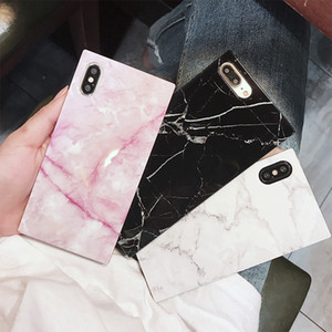 For iphone 11promax 11pro 11 xsmax xr xs x 7p 8p 7 8 Marble style phone case cool style square all-inclusive soft shell