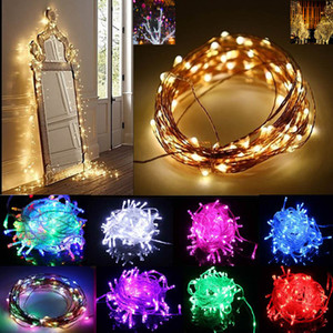 Led Strips String Decoration Light 220V For Party Wedding Halloween Christmas Flash Light 10M 33 Ft 100 Led 9Colors XD20818