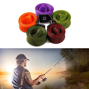 Wholesale 30mm 170cm Mesh Fishing Rod Protector Sheath Pole Sleeve Cover Pole Expanable Braided Sleeve Wrap