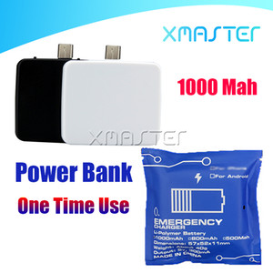 Wholesale batteries charging resale online - Mini Power Bank One Time Use Portable Charging Treasure For Universal Mobile Phone Emergency Portable Battery Powerbank for Phone Android