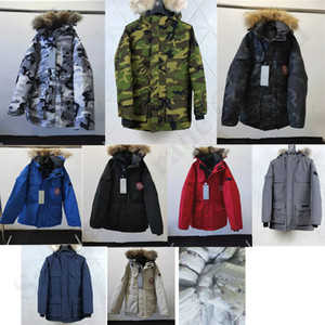 Canada Autumn Winter Warm Mens Design Goose Down Slim Hooded Down Coat Thick Casual Men Down Jacket Outdoor Windproof Outerwear Tops A110604