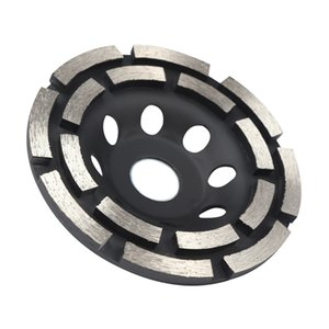 Wholesale diamond parting tool resale online - 115 mm Double row Diamond Grinding Disc Metalworking Cutting Tool