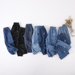 22 New KidsClothes Comfortable Summer Show Boys and Girls Mosquitoproof Pants Tencel Jeans and Explosive Pants on Sale